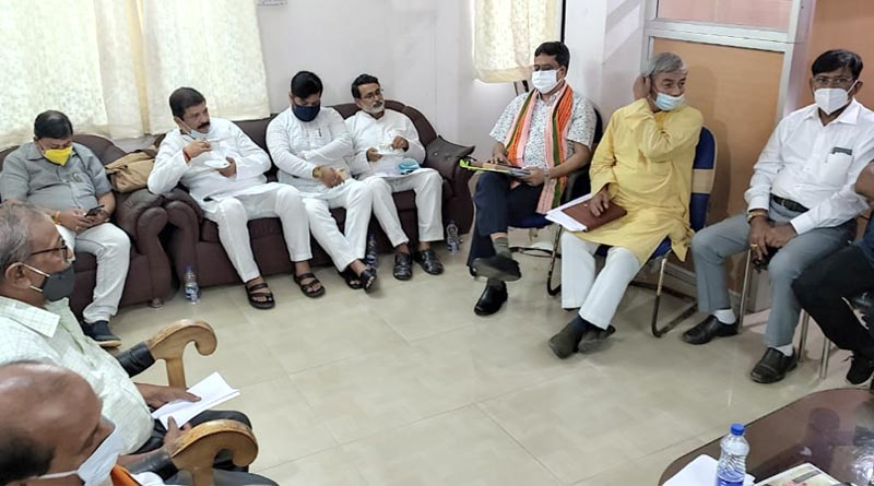 Central BJP Leaders arrive Tripura to meet party members Amid speculations of some joining TMC । Sangbad Pratidin