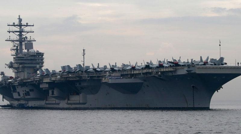 US Navy aircraft carrier USS Reagan enters South China Sea | Sangbad Pratidin
