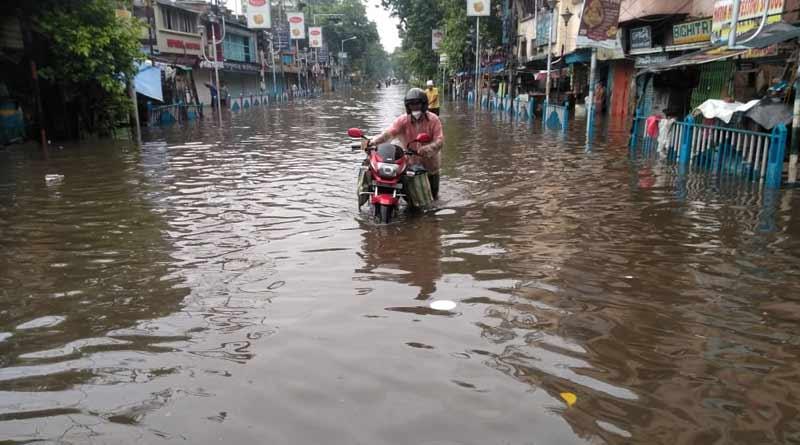 Kolkata waterlogged due to heavy rainfall ।Sangbad Pratidin