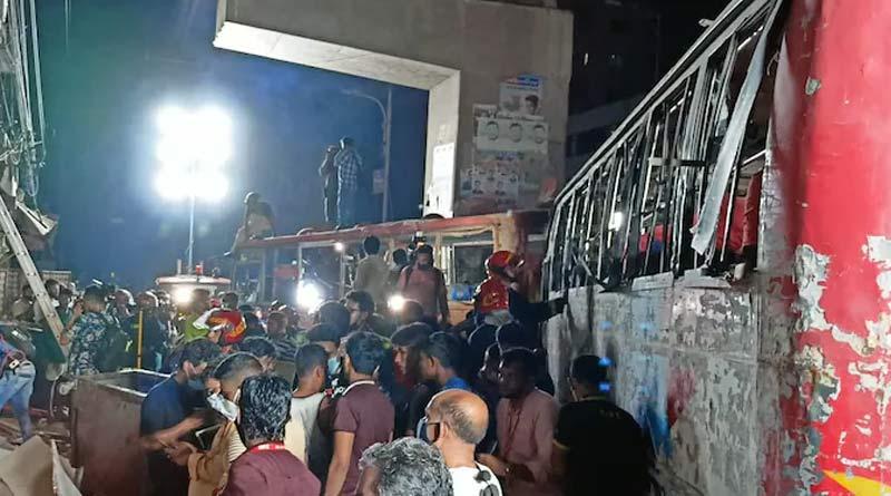 Three dead, over 40 injured in Dhaka explosion | Sangbad Pratidin