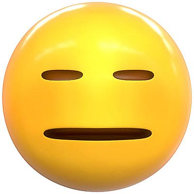 Expression less Emoji meaning