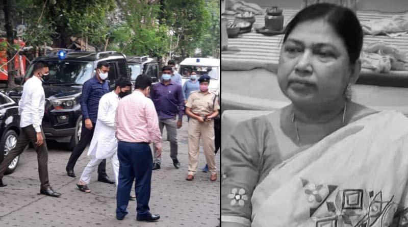 Abhishek Banerjee at Mukul Roys house expresses grief over krishna Roys death | Sangbad Pratidin
