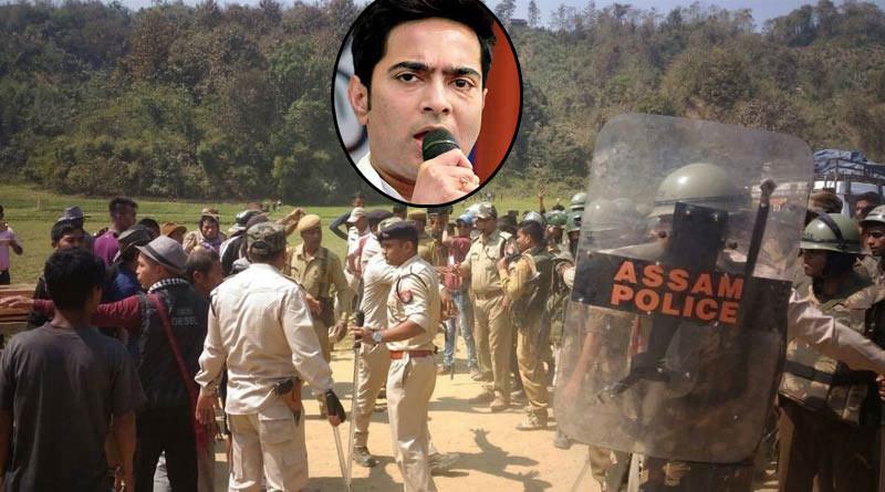 TMC MP Abhishek Banerjee offers condolence to the families of cops killed in Assam-Mizoram border clash | Sangbad Pratidin