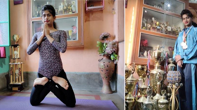 Raniganj student creates record in Yoga, named in India book of records | Sangbad Pratidin