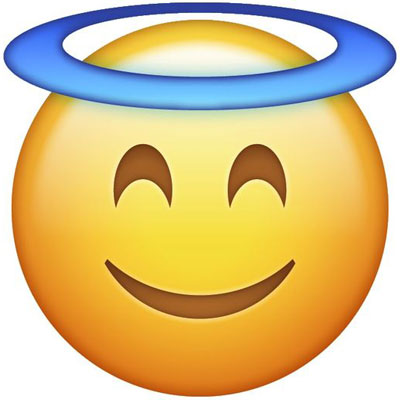 Angel-face emoji real meaning