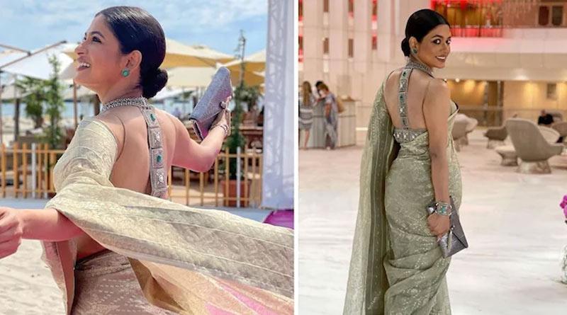 Bangladeshi actress Azmeri Haque Badhon takes over Cannes Film Festival in Dhakai Jamdani saree | Sangbad Pratidin