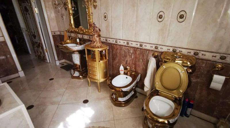 Golden Toilet Found in Traffic Cop's Lavish Mansion During Bribery Probe, Video Goes Viral | Sangbad Pratidin