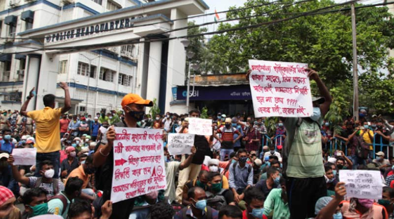 Protest over delay in West Bengal Police constable post appointments | Sangbad Pratidin