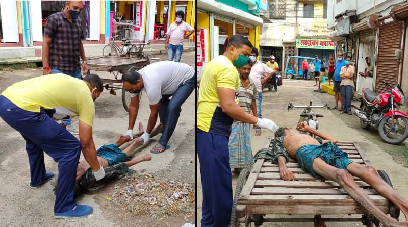 Sick old man lied beside Vat for 24 hours, people of Bongaon ignore to rescue him | Sangbad Pratidin