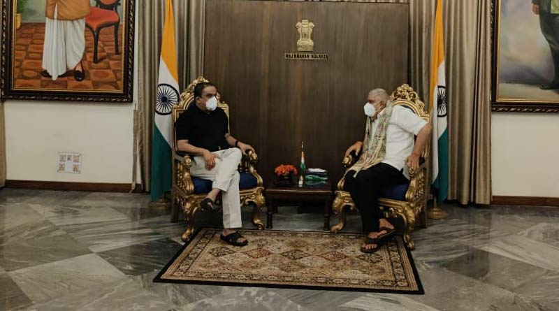 Education Minister Bratya Bose visits West Bengal Governor Jagdeep Dhankhar | Sangbad Pratidin