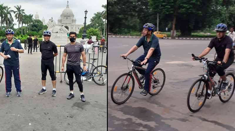 Kolkata police commissioner Soumen Mitra visits Maidan । Sangbad Pratidin