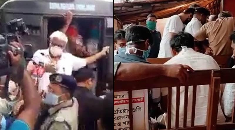 Police arrests 45 left supporters including Sujan Chakraborty for protesting on price hike of petrol, diesel | Sangbad Pratidin