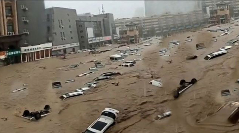 Chinese Henan province swamped after heaviest rain in 1,000 years | Sangbad Pratidin