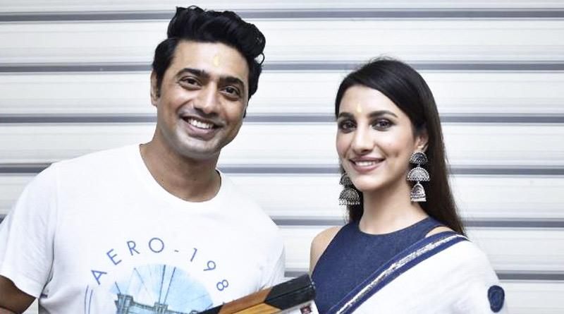 Shooting of dev Rukmani starrer movie Kishmish beings   Sangbad Pratidin