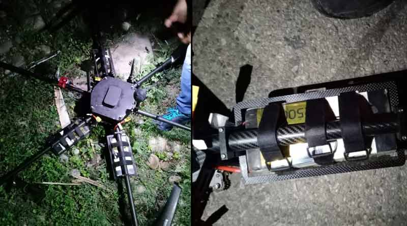 Jammu and Kashmir Police shoots down drone । Sangbad Pratidin