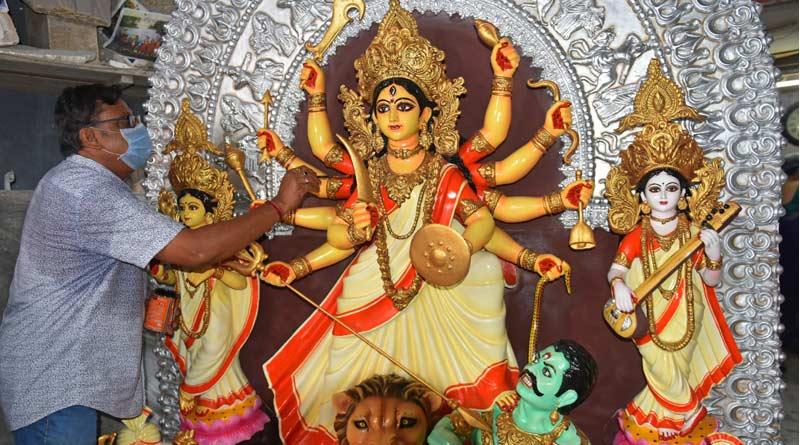 Durga Idol is going to Germany amid Corona Pandemic | Sangbad Pratidin