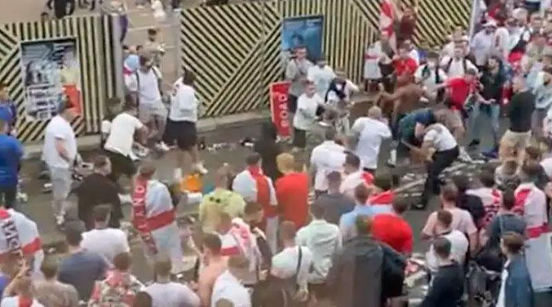 English Fans Attack Italians After EURO 2020 Final at Wembley | Sangbad Pratidin