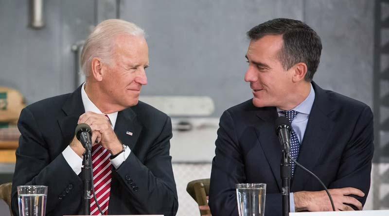 US president Joe Biden nominates LA Mayor Eric Garcetti for India ambassador | Sangbad Pratidin