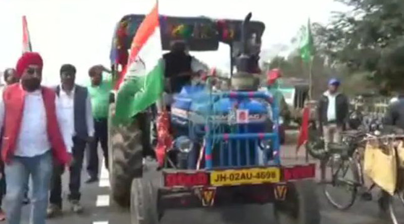 Farmers' tractor parade in Haryana on Independence Day | Sangbad Pratidin