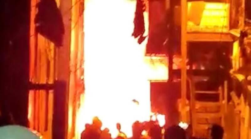 Massive fire broke out in a building of Strand road ।Sangbad Pratidin