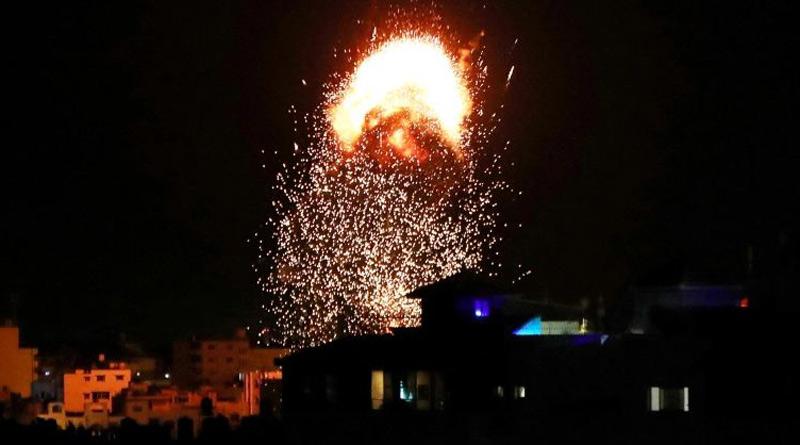 Israeli air raids target Gaza for third time since May ceasefire | Sangbad Pratidin