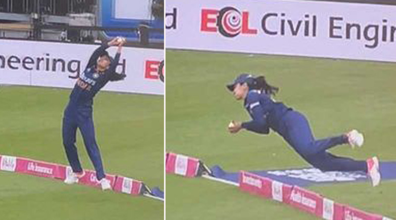 India's Harleen Deol produces 'one of the best catches ever' , viral video   Sangbad Pratidin