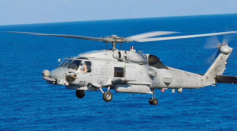 Indian Navy receives first two 24 MH-60R helicopters from US | Sangbad Pratidin