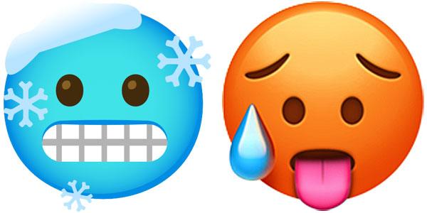 Hot Face Cold Face Emoji