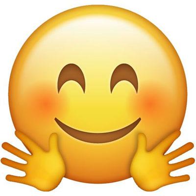 Hugging-emoji Meaning