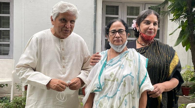 Lyricist-poet Javed Akhtar and actor Shabana Azmi met West Bengal Chief Minister Mamata Banerjee | Sangbad Pratidin