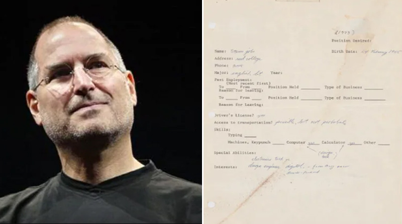 Steve Jobs' first and only job application sold for over Rs 2.5 crore | Sangbad Pratidin