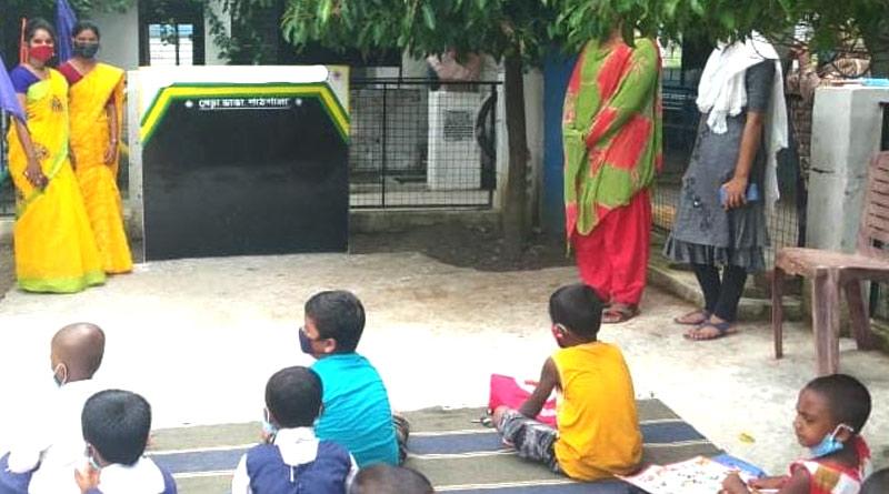 Kalna tutors organize Open air classes for local students in COVID-19 situation   Sangbad Pratidin