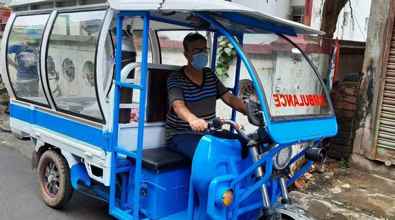 Coronavirus: Youth from Katwa turns a toto into Ambulance to combat oxygen criris before third wave | Sangbad Pratidin