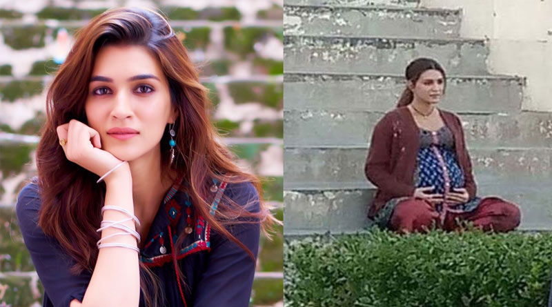 Bollywood Actress Kriti Sanon flaunts baby bump in new leaked pic from Mimi set | Sangbad Pratidin