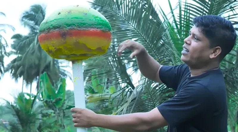 Kerala YouTuber makes biggest lollipop in the world' weighing 25 kg   Sangbad Pratidin