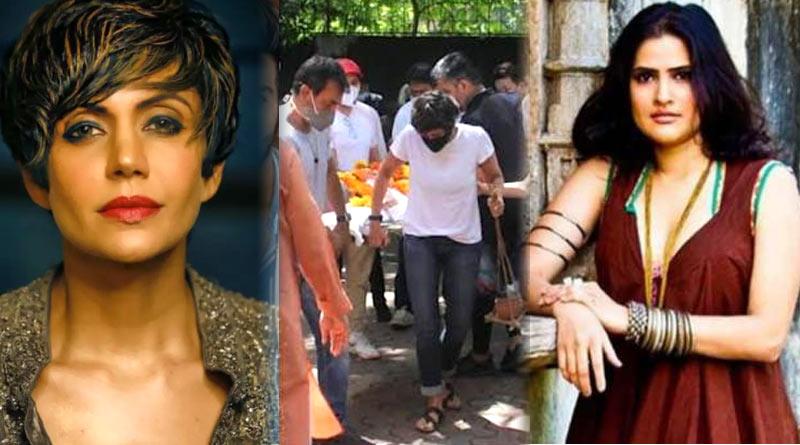 Mandira Bedi trolled for wearing Jeans and T-Shirt at husband Raj Kaushal's last rites | Sangbad Pratidin
