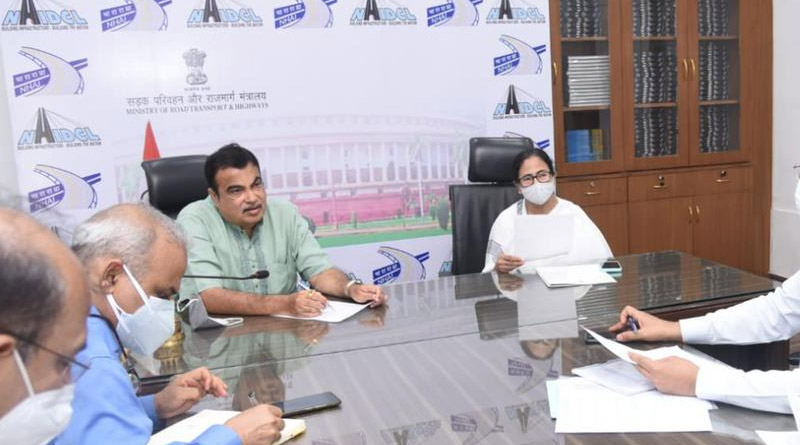 West Bengal CM Mamata Banerjee meets Union Minister Nitin Gadkari | Sangbad Pratidin