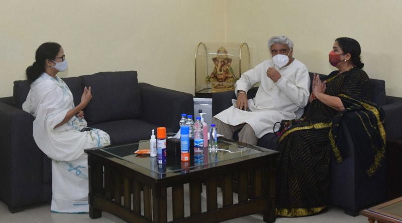 Lyricist-poet Javed Akhtar and actor Shabana Azmi met West Bengal Chief Minister Mamata Banerjee