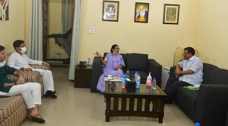 West Bengal CM Mamata Banerjee in Delhi: Mamata Banerjee meets sonia Gandhi, Rahul Gandhi also present | Sangbad Pratidin