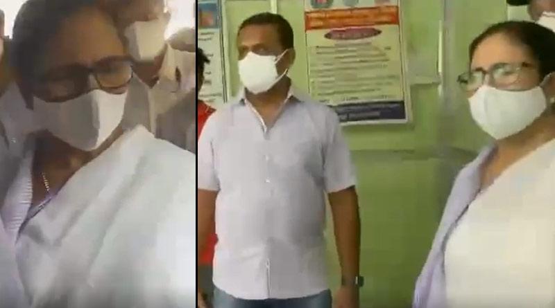 CM Mamata Banerjee surprisingly visit COVID-19 Vaccination camp at Kalighat | Sangbad Pratidin