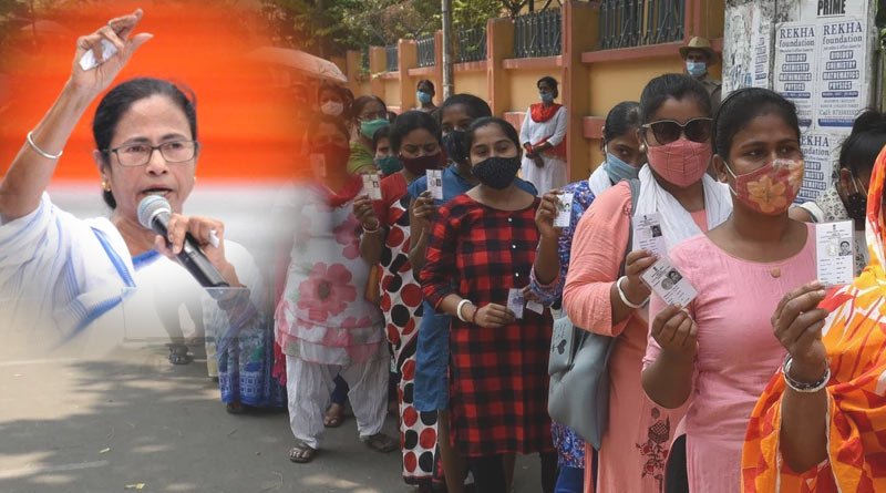 West Bengal assembly Election: Women matched men in Poll, gives advantage to TMC | Sangbad Pratidin
