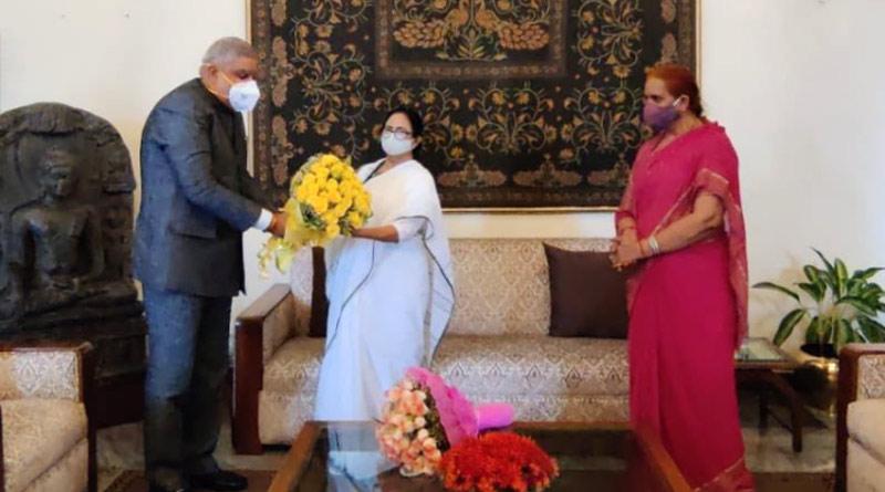 West Bengal CM Mamata Banerjee at Raj Bhavan | Sangbad Pratidin
