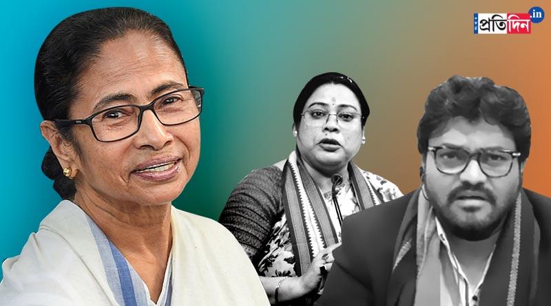 TMC leader Mamata Banerjee takes jibe at BJP after MP Babul Supriyo and MP Debasree Chaudhuri lossing ministerial berth | Sangbad Pratidin
