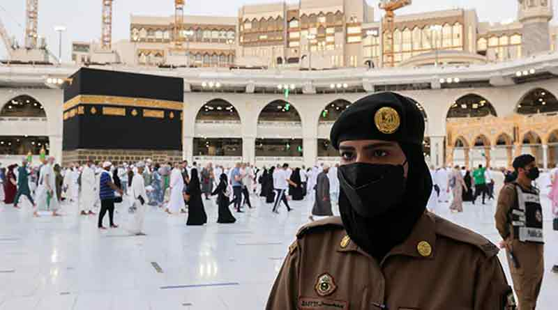 For the first time Saudi women soldiers stand guard in Mecca during Haj | Sangbad Pratidin