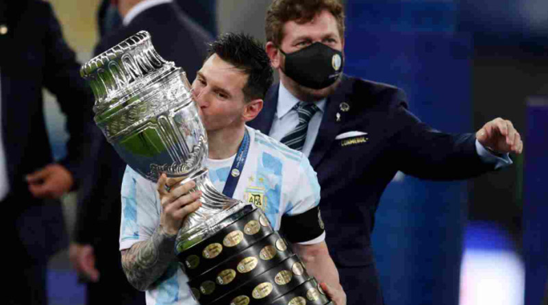 Lionel Messi's viral pic with Copa America trophy creates record on Instagram | Sangbad Pratidin