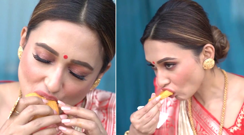 Mimi Chakraborty loves Mango, shares cute video on Instagram | Sangbad Pratidin