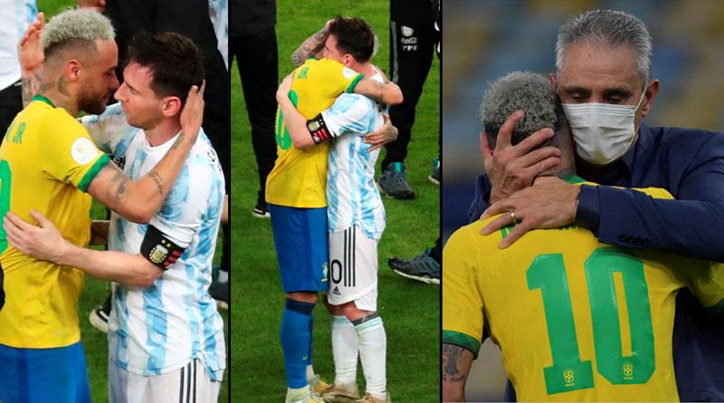 Argentine star Lionel Messi wins hearts as he consoles tearful Neymar | Sangbad Pratidin