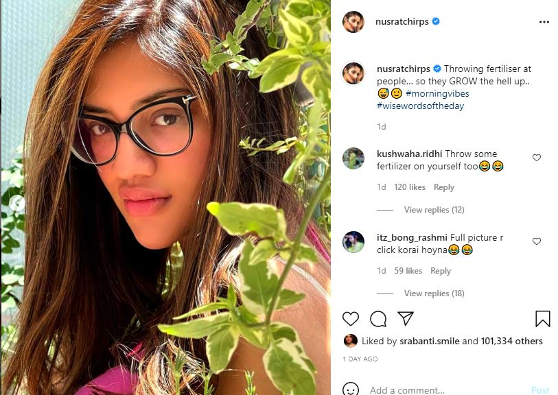 Here is what Nusrat Jahan posted on Instagram