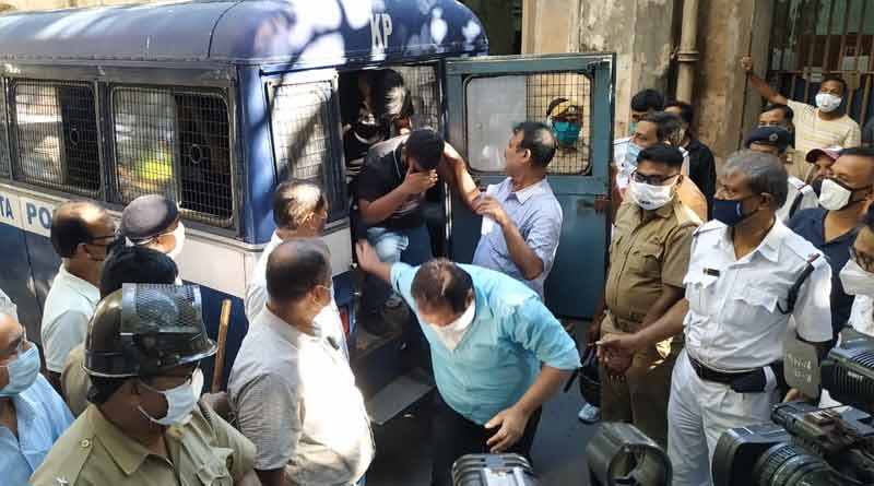 37 people arrested from a hotel of Park Street for violating covid norm । Sangbad Pratidin