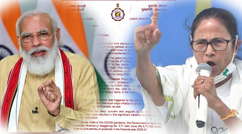 CM Mamata Banerjee writes to PM Modi over Petrol-Diseal price hike | Sangbad Pratidin